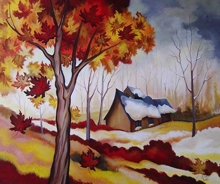 Neige d'automne 30 x 36po