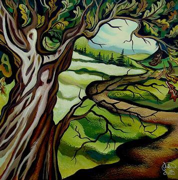 L'Éveil du chêne, 12x12 po