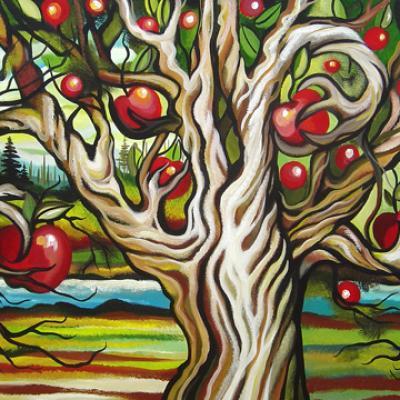 L'arbre qui donnait des pommes, 24x36 po