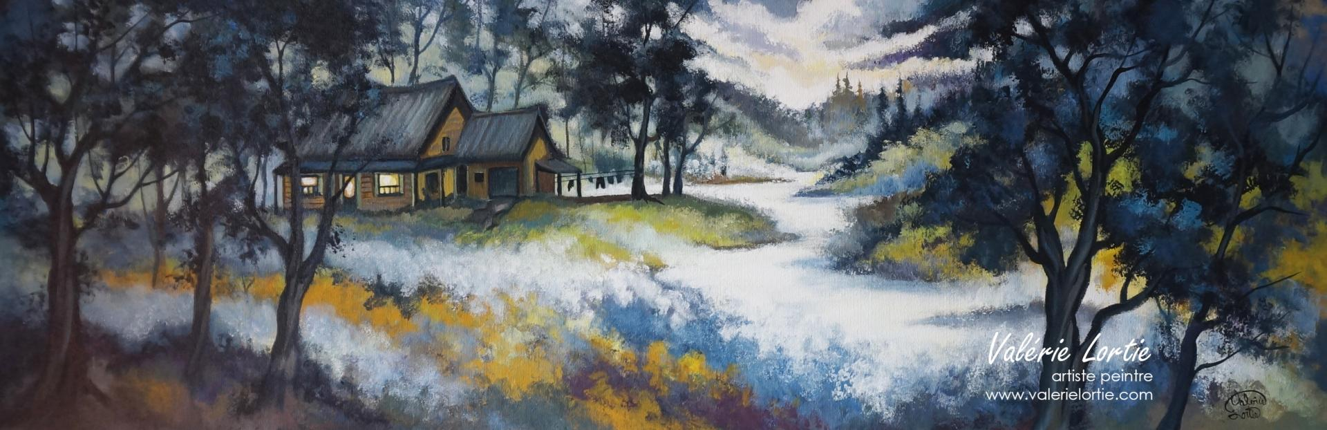 Doux refuge, 12 x 36in
