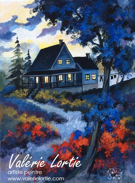 La maison bleue, 9 x 12po