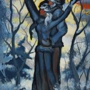 Tendresse hivernale, 8 x16in