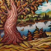 Le chêne éclatant, 24x36 po