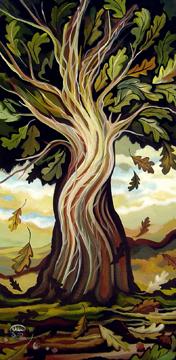 Le grand chêne, 18x36 po